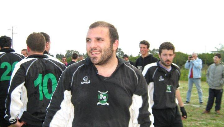 Giuseppe Colistra assieme alla sua squadra di Rugby