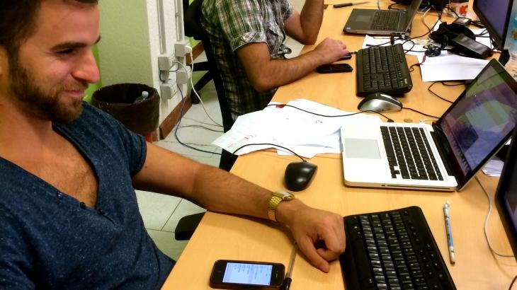 Matteo e Maurizio a lavoro