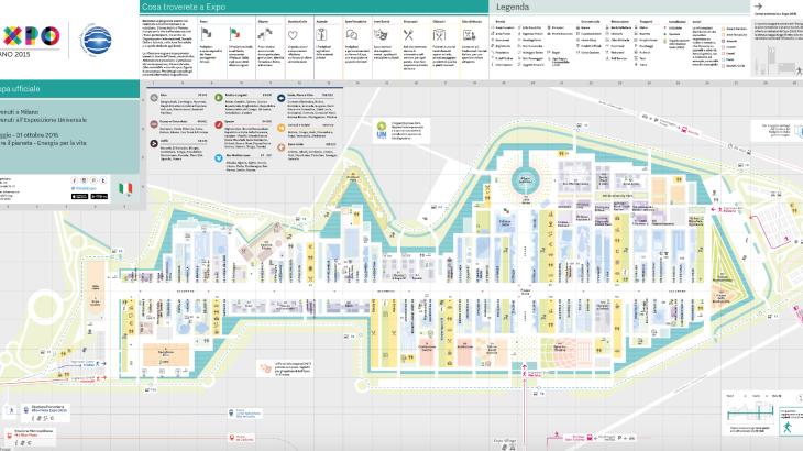 Expo Milano 2015: Mappa